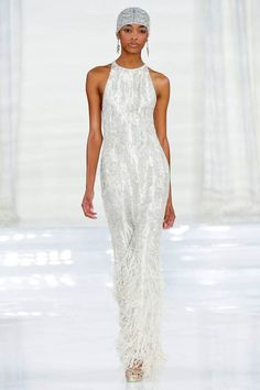 Ralph Lauren Gatsby-inspired Vintage Spring Runway Beaded Dress