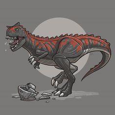 Demon the Carnotaurus Jurassic Park Series, Jurassic Park World, Dinosaur Drawing, Dinosaur Art, Jurassic World Dinosaurs, Jurassic World Fallen Kingdom, Creature Concept Art, Falling Kingdoms, Prehistoric Creatures