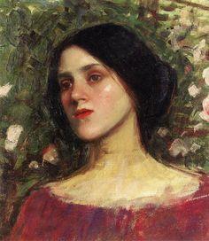 The Rose Bower (detail) - John William Waterhouse