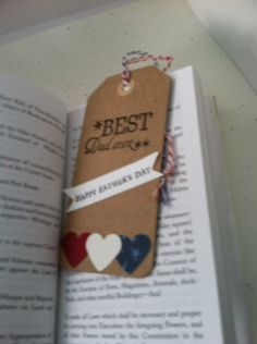 Best Dad EVER Handstamped Gift tag and or by JustSimplyHandmade, $1.50