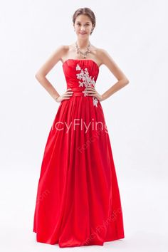 fancyflyingfox.com Offers High Quality Beautiful Dipped Neckline A-line Full Length Red Sweet 16 Dresses ,Priced At Only US$168.00 (Free Shipping)