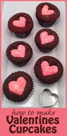 Repinned: How to make easy Valentines Cupcakes
