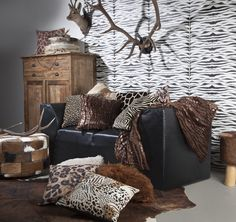 Wildlife 1 Sitting Area, Cushions, Couch, Magic, Throw Pillows, Blanket, Bed, Furniture, Wildlife