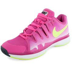 The latest version of the Nike Women's Zoom Vapor 9.5 Tour #Tennis #Shoes provides a lightweight feel & quick response on court. Grab your pair today >> http://www.tennisexpress.com/nike-womens-zoom-vapor-95-tennis-shoes-hot-pink-and-black-42716 #TennisExpressNIKE