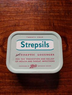Vintage Strepsils Antiseptic Lozenges tin from Boots chemists of England