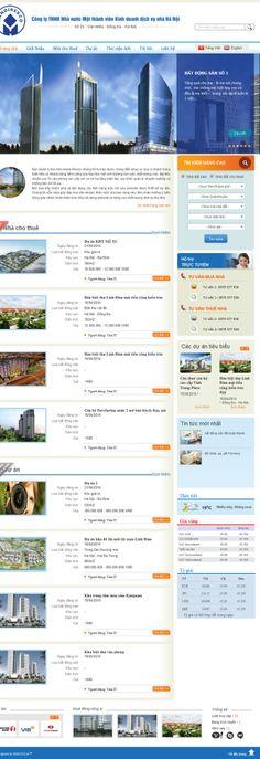 giao diện website bất động sản