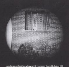 olden timey binocular view