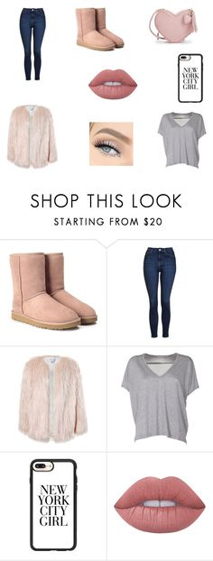 """""""a late valentines day"""" by edmvanhalm ❤ liked on Polyvore featuring UGG, Topshop, Sans Souci, Acne Studios, Casetify, GET LOST and Lime Crime"""