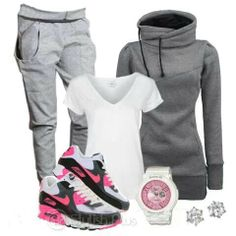 Cute work out clothes, except for the pink; not a big fan of that color.