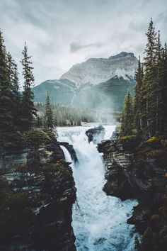banshy:  Athabasca Falls // Fabio Zingg   http://ift.tt/2c8NE2F