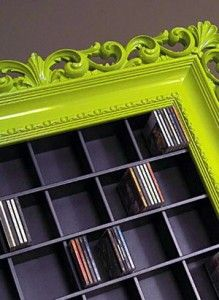 Cool for books or movies! I would do a different frame color though, something a little classier.