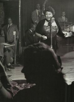 Ella Fitzgerald. Photograph by Herman Leonard. ca. 1949 That was one singing sister!