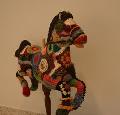 Carousel Horse Yarn Bomb 08.30.11 by Donna Rutledge-Okoro Birmingham Museum of Art ...I so like this!