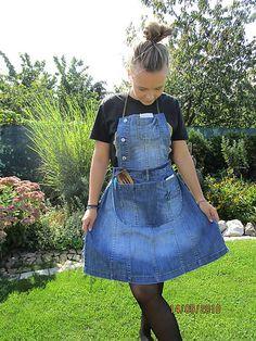 Handmademaja / Praktická zástera z recyklovanej/upcyklovanej rifloviny Overall Shorts, Overalls, Jeans, Women, Fashion, Moda, Fashion Styles, Jumpsuits, Fashion Illustrations