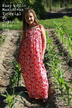 Melly Sews: Easy and Chic Maxi Dress by Justine from Sew Country Chick