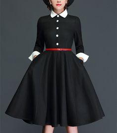 Modest Dresses, Elegant Dresses, Cute Dresses, Beautiful Dresses, Casual Dresses, Vestidos Vintage, Vintage Dresses, Vintage Outfits, Vintage Fashion