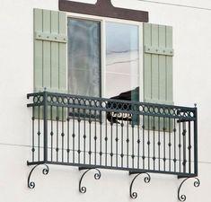 Cassia Juliet Balcony - All About Balcony Juliet Balcony, Iron Balcony, Balcony Railing, Porch Railings, Wrought Iron Window Boxes, Balcon Juliette, Balustrade Balcon, French Balcony, Iron Windows