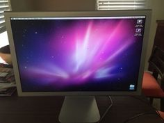 Apple Mac Cinema Display 20 inches w/ POWER SUPPLY LED DVI Monitor A1081 A1096