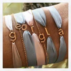 The bracelets @nevaoslo #thankyou #goldalphabet by selfservicemagazine
