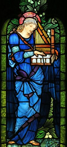 Burne-Jones, St. Cecilia, 2nd Presbyterian Church, Chicago