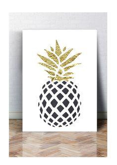 Druck FINEART Bild Poster ANANAS BLACK Print A4 & A3 TYPOGRAFIE in Möbel & Wohnen, Dekoration, Bilder & Drucke | eBay!