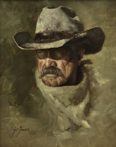 Cowboy Art, Western Cowboy, Greatest Warriors In History, Victorian Paintings, Conceptual Drawing, Fallout Art, Real Cowboys, Cowboy Christmas, West Art