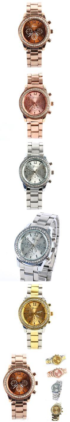 Fashion Mosaic Crystal Quartz Reloj Stainless Steel Wrist Watch Top Luxury Bling Charms Relojes