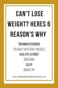 Cant Lose Weight - Heres 6 Reasons Why    Online Training & Nutrition. Strength Training    Unbreakable Health & Performance    www.unbreakablehealthperformance.com