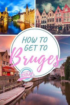 Complete guide on how to get to Bruges from almost anywhere! Find information on catching a train to Bruges from Brussels, Amsterdam, Ghent, … anywhere! Europe Travel Guide, Backpacking Europe, Travel Guides, Travel Destinations, Budget Travel, European Destination, European Travel, Brussels Airport, Bruges