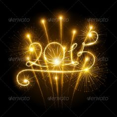 New Year 2015 Fireworks — Vector EPS #sky #salute • Available here → https://graphicriver.net/item/new-year-2015-fireworks/8626573?ref=pxcr
