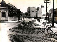 22-11-1958 - Rua Doutor Arthur Guimarães. Vista da esquina com a rua Voluntários da Pátria em direção à rua Doutor Zuquim.