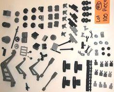 100 Pieces LEGO Parts Dary Gray Crane Caps 30359 2877 30212 61780 30211 4588 set #LEGO