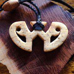 First carving from fossilized walrus bone...stylized Etua symbol Mahalo for da kine @cabanillamakau