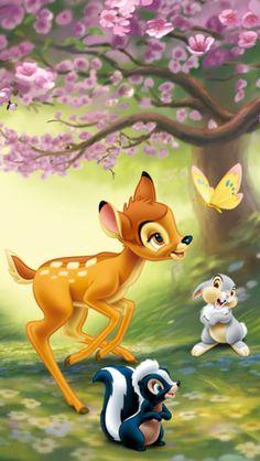 Disney World Bambi and Friends Cartoon Wallpaper Bambi Disney, Disney Pixar, Disney Cartoons, Disney Love, Tinkerbell Disney, Disney Kunst, Arte Disney, Disney Art, Cartoon Kids