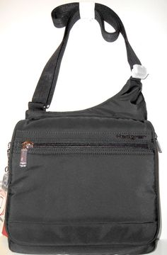 33fb00907f7 NEW HEDGREN Inner City Sputnik Black Nylon SLING Shoulder Crossbody Bag NWT