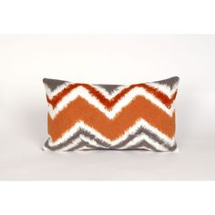 Trans-Ocean Imports 7SC1S416717 Visions Iii Collection Orange Finish Pillow