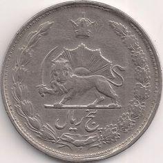 Motivseite: Münze-Asien-Iran-ریال-۵-1338-1346