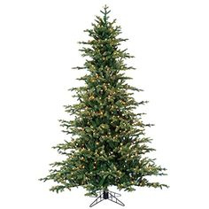 "7'6""Hx61""W Norway Spruce Lighted Artificial Christmas Tree w/Stand -Green ** Continue @ http://www.amazon.com/gp/product/B00O5TTXVY/?tag=christmasdecor1-20&pza=210816215100"