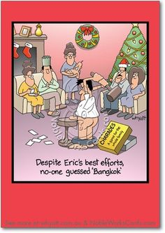 Adult christmas ecard