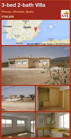 3-bed 2-bath Villa in Pinoso, Alicante, Spain ►€156,000 #PropertyForSaleInSpain