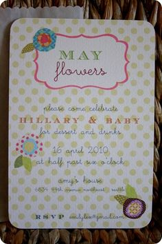 April Showers-May Flowers baby shower {Jones Design Co.}
