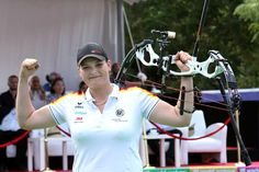 Kristina Berger of Germany, shooting her 2013 Hoyt bow this past weekend, shot the highest official FITA score ever recorded by any woman in the history of the world. 1,418 points out of a total possible 1,440. The archery community across the globe is all abuzz over this unprecedented performance by Berger. What makes this even more intriguing? Berger started shooting archery just 2 years ago! Congratulations Kristina! Hoyt Bows, Hoyt Archery, Archery Accessories, Bow Arrows, Show And Tell, World History, Congratulations, Globe, Hunting