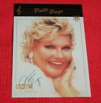 $9.99 - PATTI PAGE signed autographed Country Music Classics card *FREE SHIPPING!*
