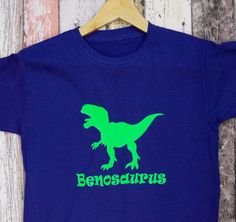 Kids Personalised Dinosaur T-Shirt