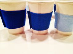 DIY Felt Coffee Cozies