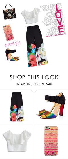 """""""#casetify"""" by perianuramona on Polyvore featuring Ted Baker, Christian Louboutin, Chicwish, Casetify and Alexander McQueen"""