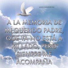 A la memoria de mi querido padre.. que ya no esta..