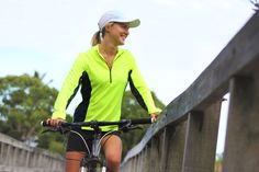 Looking for that light weight, comfortable, high visiblity cycling top? We have just the top for you. Our UPF50+ Cycling Jersey comes in High Vis Fluro Yellow and Mint.