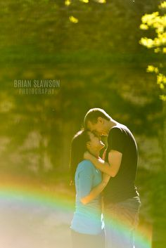 Photo by Brian Slawson Photography. They are so in love! #engagement #love #outdoor