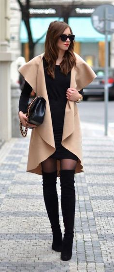 #winter #fashion / camel + knit